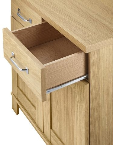 Kingstown Dalby Oak Glass Display Unit - 2 Door