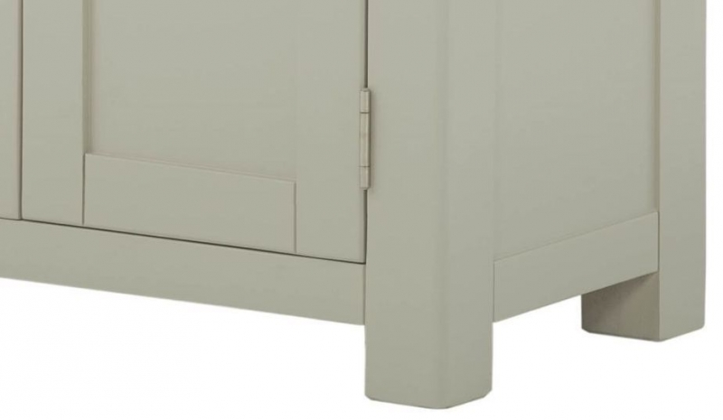 Portland Large Hall Cabinet - Oak and Stone Grey Painted
