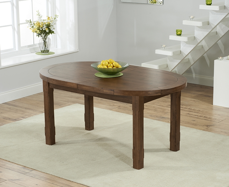 Mark Harris Cheyenne Solid Dark Oak Oval Extending Dining Table