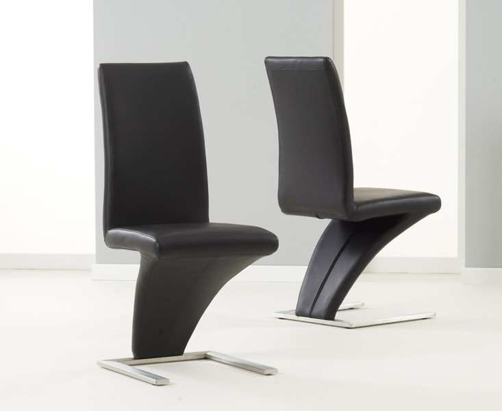 Mark Harris Hayden White High Gloss 160cm Extending Dining Table with 6 Black Hereford Chairs