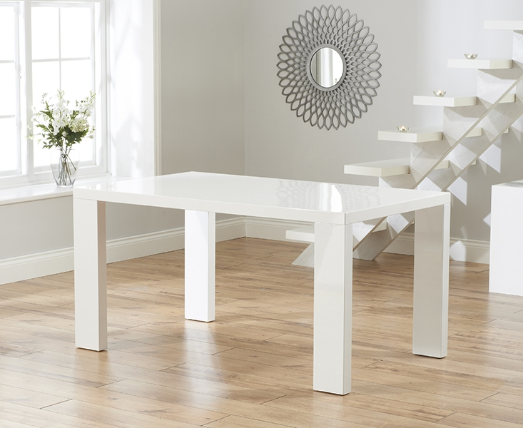 Mark Harris Metz White High Gloss 150cm Dining Table
