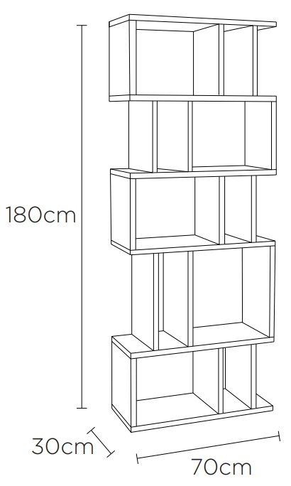 Content by Terence Conran Counter Balance Alcove Shelving Unit - Oak and Charcoal