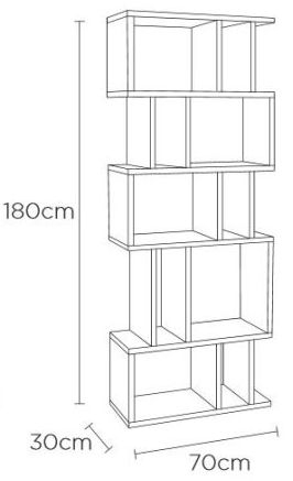 Content by Terence Conran Counter Balance Oak and Charcoal Alcove Shelving Unit