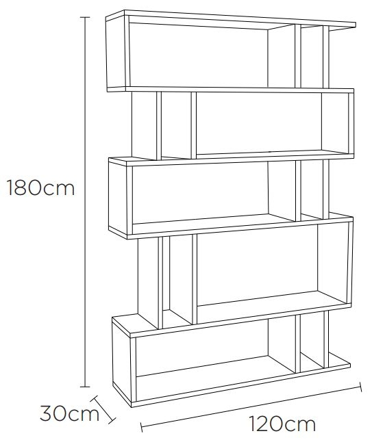 Content by Terence Conran Counter Balance Tall Shelving Unit - Oak and Charcoal