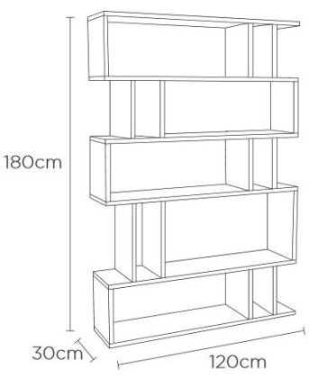Content by Terence Conran Counter Balance Oak and Charcoal Tall Shelving Unit