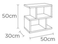 Content by Terence Conran Balance Walnut Storage Side Table