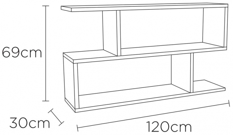 Content by Terence Conran Balance White Low Shelving Unit