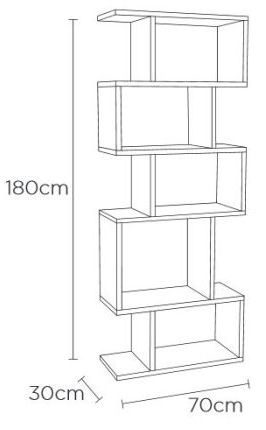 Content by Terence Conran Balance Walnut Storage Alcove Shelving Unit