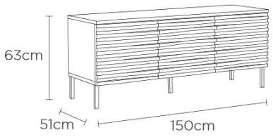 Content by Terence Conran Wave Oak Sideboard