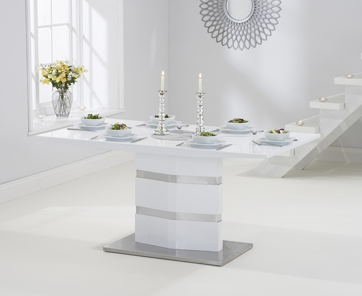 Mark Harris Springfield White High Gloss Dining Table