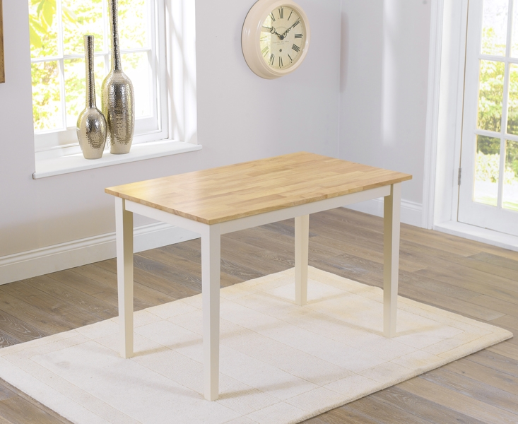 Mark Harris Chichester Oak and Cream Dining Set - 115cm with 4 Chairs