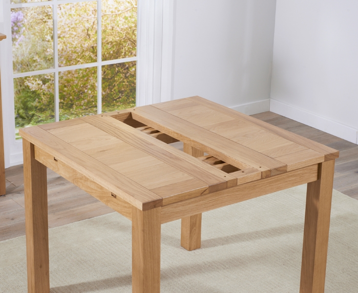 Mark Harris Cambridge Solid Oak Dining Table   90cm Square Extending