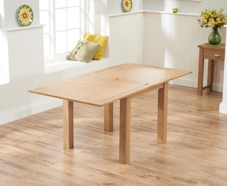 Mark Harris Sandringham Solid Oak Dining Table   90cm Square Flip Top  Extending