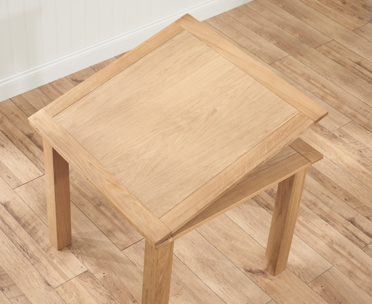 Mark Harris Sandringham Solid Oak 90cm Flip Top Extending Dining Table with 4 Valencia Timber Seat Chairs