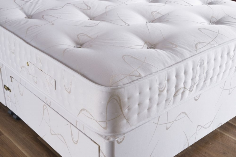 Vogue Summer and Winter Diamond 2000 Pocket Springs Fabric Divan Bed