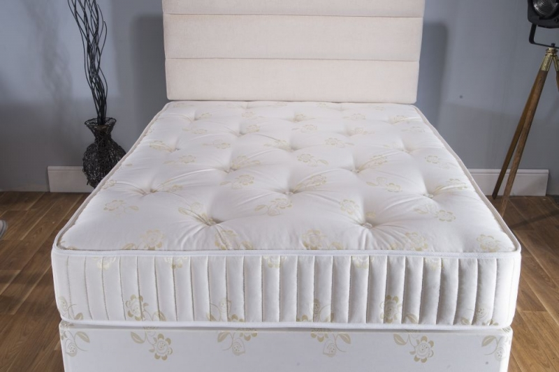 Vogue Summer and Winter Gold 1000 Pocket Springs Fabric Divan Bed