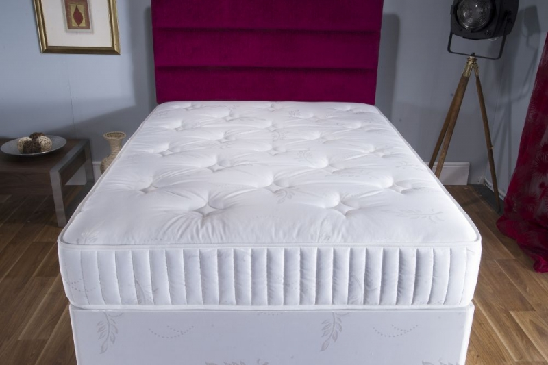 Vogue Summer and Winter Silver 800 Pocket Springs Fabric Divan Bed