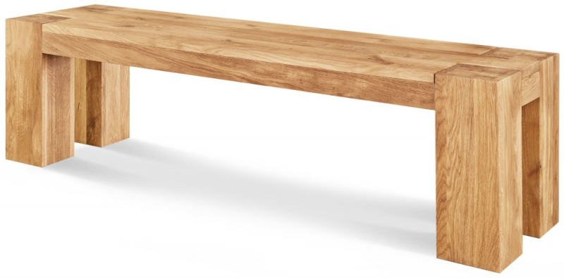 Beau Clemence Richard Massive Oak Dining Bench   144cm