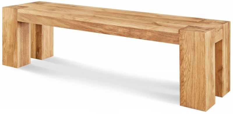 Clemence Richard Massive Oak Dining Bench Type38