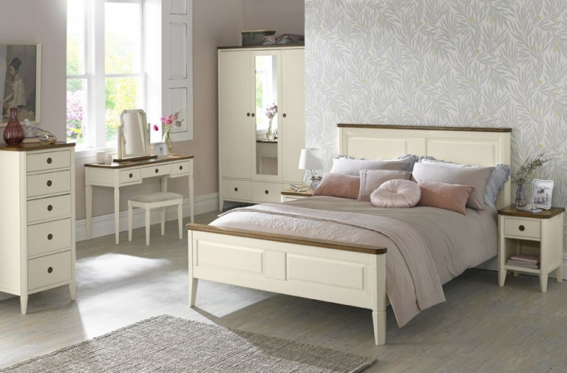 Clearance Bentley Designs Sophia Two Tone Bedside Cabinet - 1 Drawer