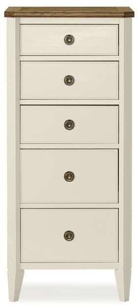 Clearance Bentley Designs Sophia Two Tone Chest of Drawer - 5 Drawer Tall