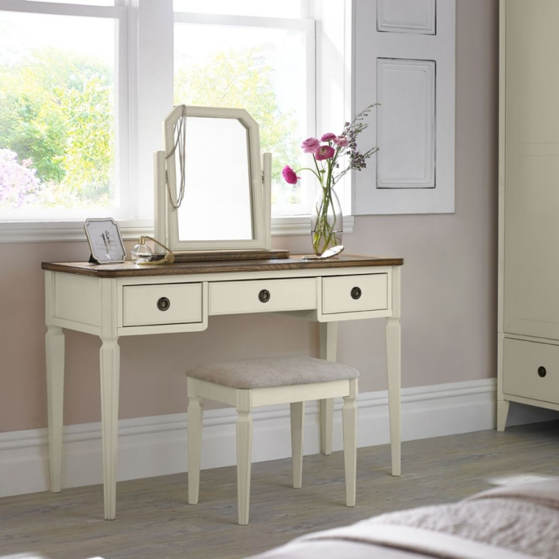 Clearance Bentley Designs Sophia Two Tone Dressing Table