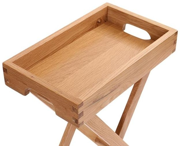 Vancouver Petite Oak Butler Tray - Large with Stand
