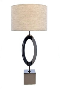 RV Astley Cloe Smoked Nickel Lamp
