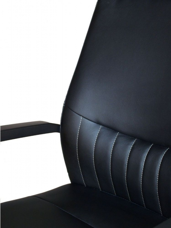 Alphason Brooklyn Black High Back Faux Leather Office Chair - AOC3122HB-BLK