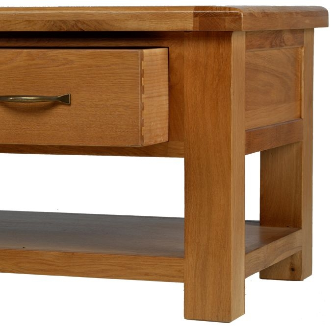 Arles Oak Coffee Table with 4 Drawer