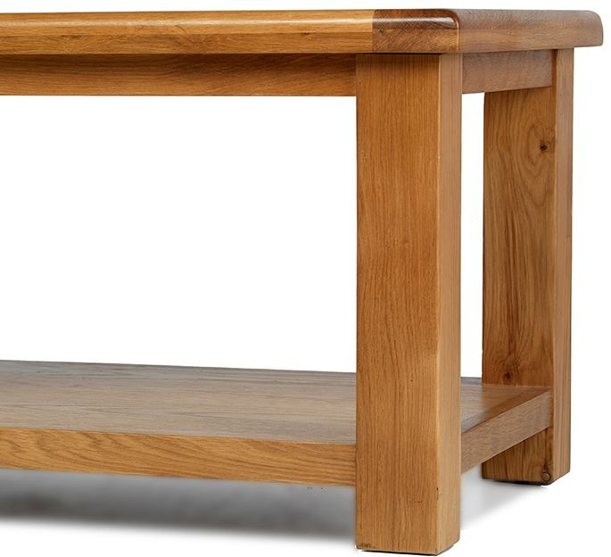 Arles Oak Coffee Table with Shelf