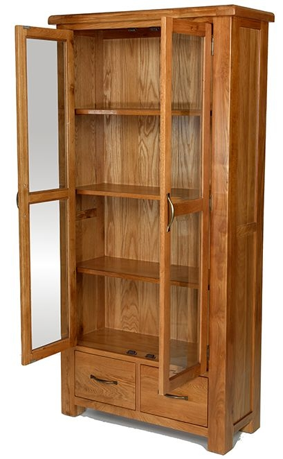 Arles Oak Glazed Display Cabinet