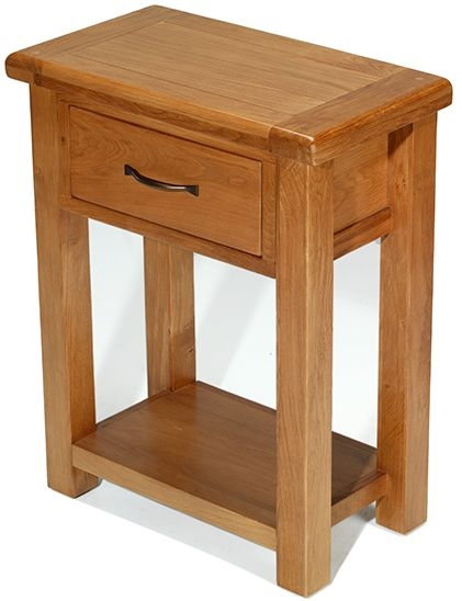Arles Oak Small Hall Table