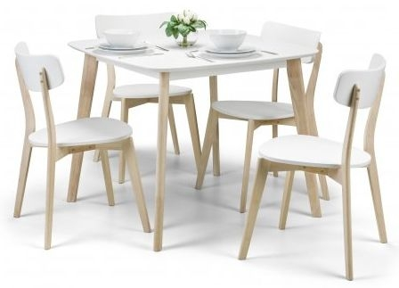 Julian Bowen Casa White Oak Dining Chair (Pair)