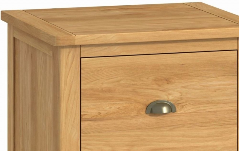Portland Oak 2 Drawer Office Filing Cabinet