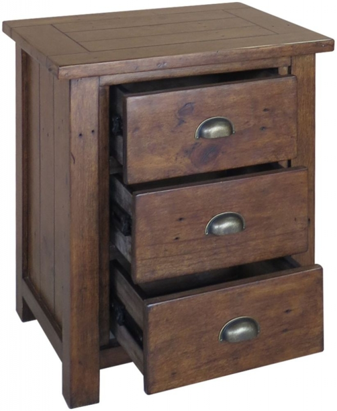 Driftwood Reclaimed Pine Bedside Cabinet