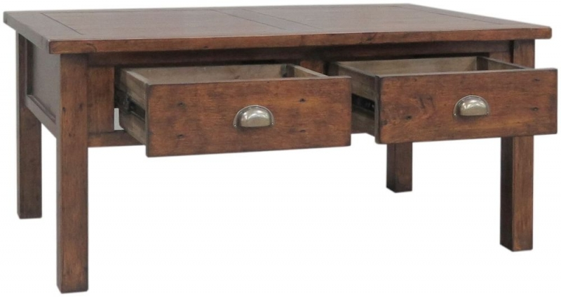 Hadstock Driftwood Style Dark Reclaimed Wood Coffee Table