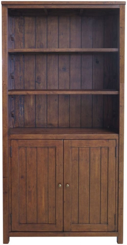 Driftwood Reclaimed Pine Cupboard Bookcase