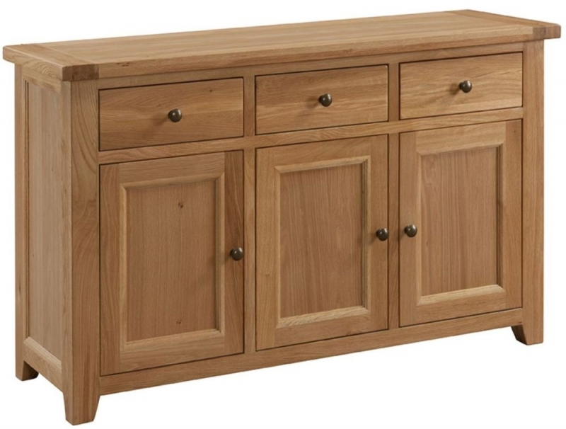 Larne Oak Large Sideboard