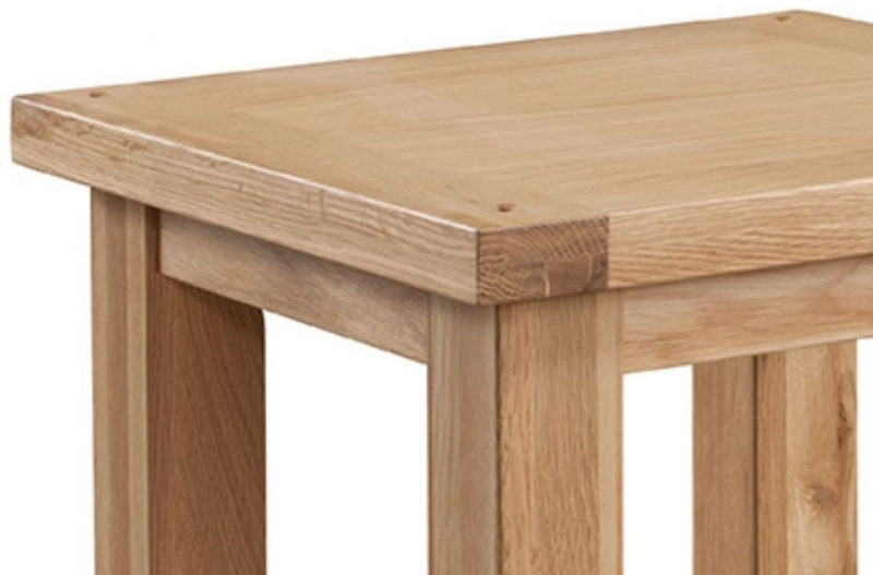 Larne Oak Lamp Table