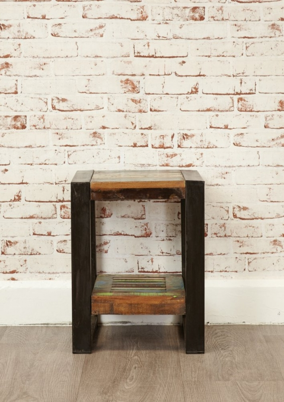 Baumhaus Urban Chic Reclaimed Wood Low Lamp Table