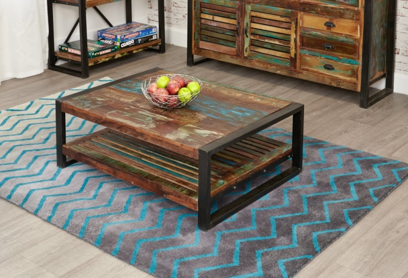 Baumhaus Urban Chic Reclaimed Wood Rectangular Coffee Table