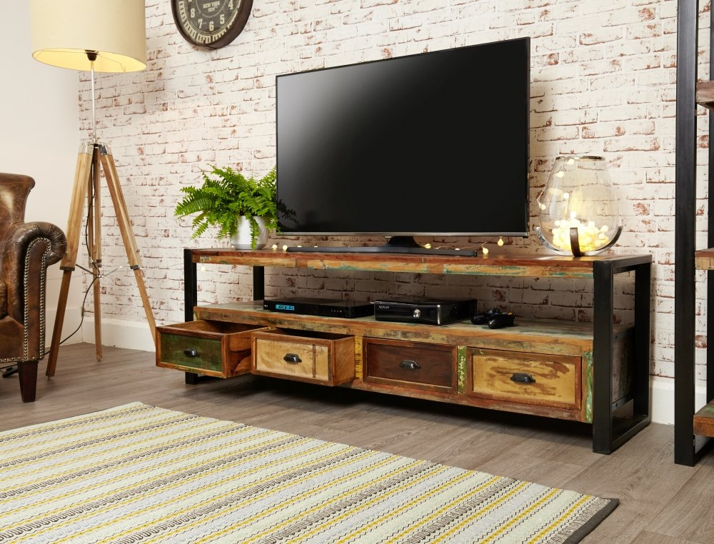 Buy baumhaus urban chic open widescreen television cabinet for Urban furniture
