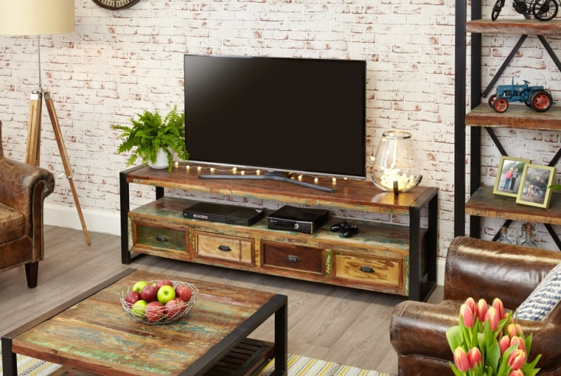 Baumhaus Urban Chic Open Widescreen Television Cabinet
