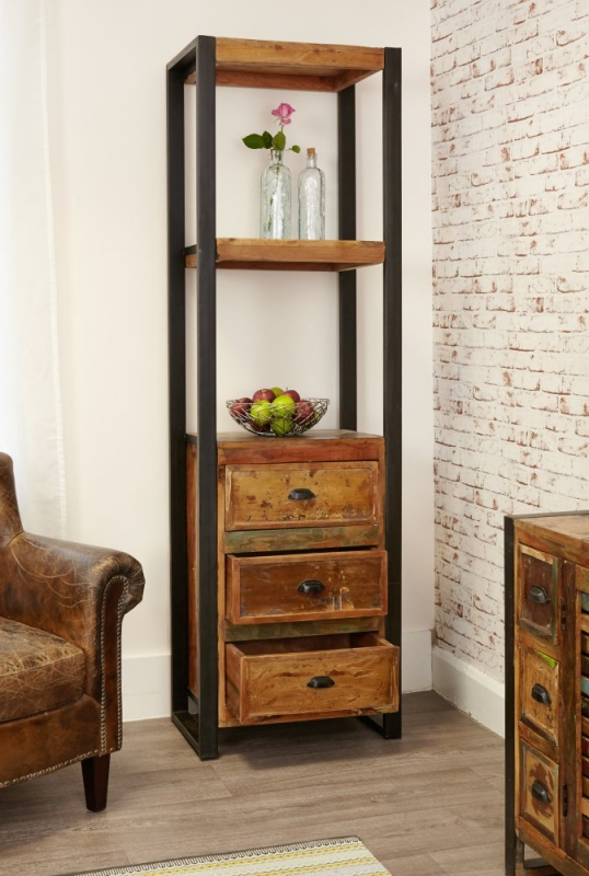 Baumhaus Urban Chic Alcove Bookcase with Drawer