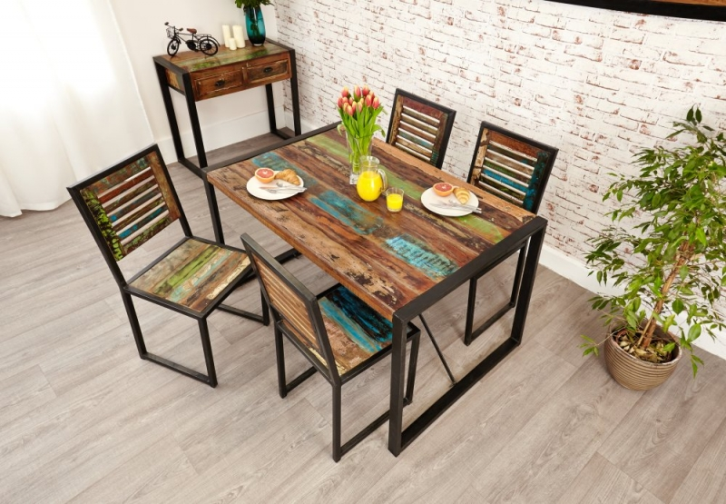 Baumhaus Urban Chic Small Dining Set with 4 Chairs
