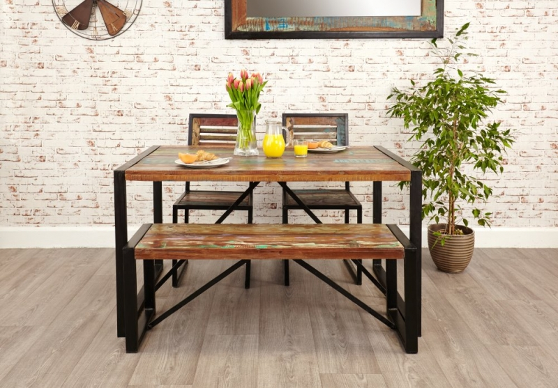 Buy baumhaus urban chic small dining set with 2 chairs and for Small dining table and bench set