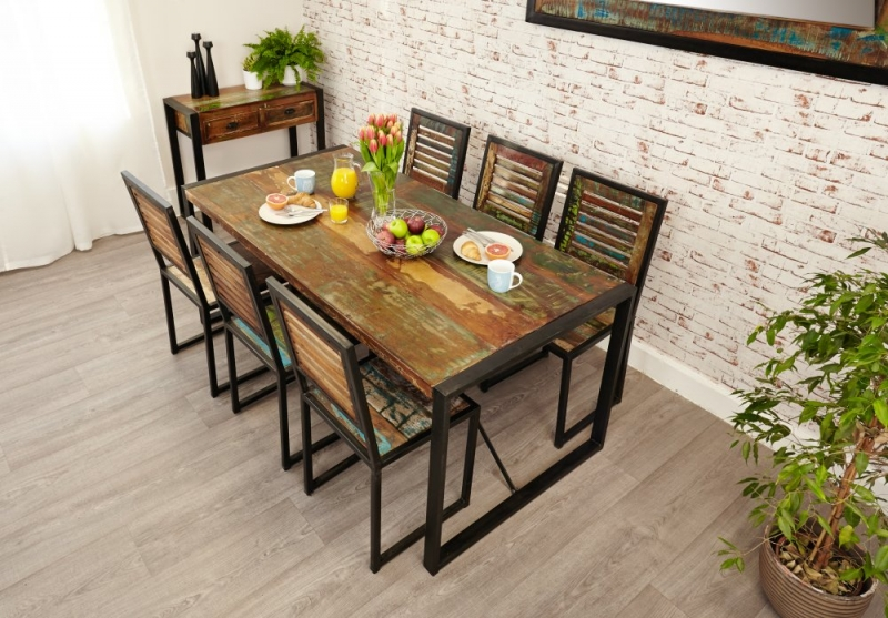 Baumhaus Urban Chic Large Dining Set with 6 Chairs