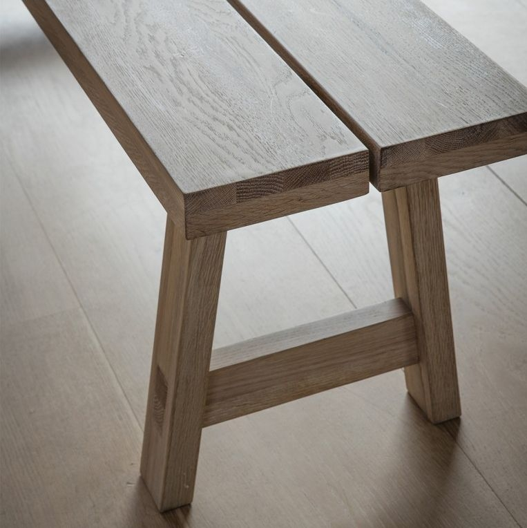 Hudson Living Kielder Oak Dining Bench