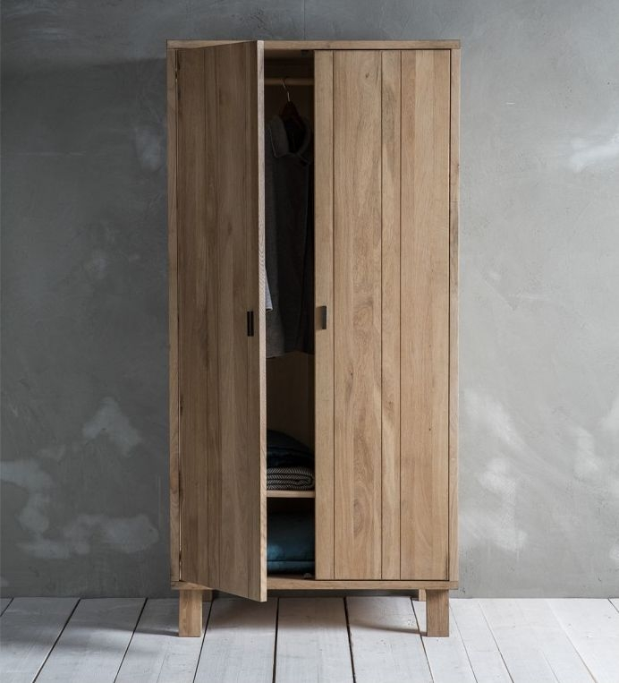 Hudson Living Kielder 2 Door Wardrobe - Oak